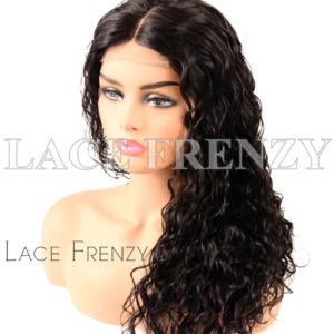 Virgin Human Hair Water Wavy Illusion Scalp 360 Wig