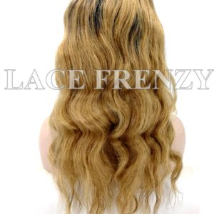 Burmese Virgin Human Hair Two Toned Wavy 360 Frontal Wig