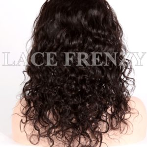 Jaslene Natural Curly Brazilian Virgin Human Hair Glueless Lace Wig