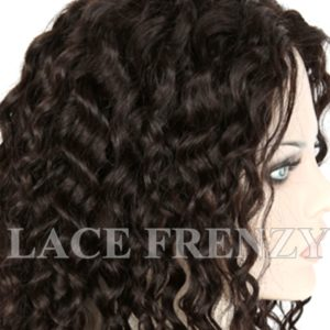 Jenni Coarse Loose Curl Malaysian Virgin Human Hair Glueless Lace Wig