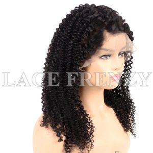 Virgin Human Hair Afro Curly Illusion Scalp 13x6 Lace Front Wig