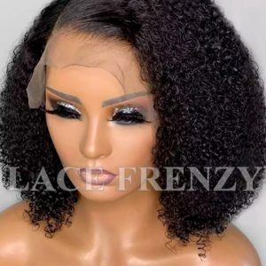 Virgin Human Hair Afro Kinky Curly Illusion Scalp 13X6 Lace Front Wig