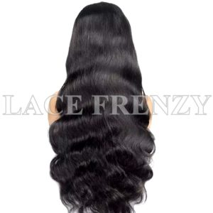 Virgin Human Hair Body Wave Illusion Scalp 13x6 Lace Front Wig