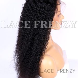 Virgin Human Hair Curly Illusion Scalp 13x6 Lace Front Wig