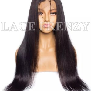 Virgin Human Hair Straight Illusion Scalp 13x6 Lace Front Wig